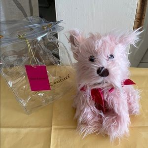 New Juicy Couture Fluffy Pink Scottie Dog